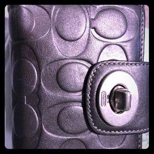 Coach Metallic Silver wallet